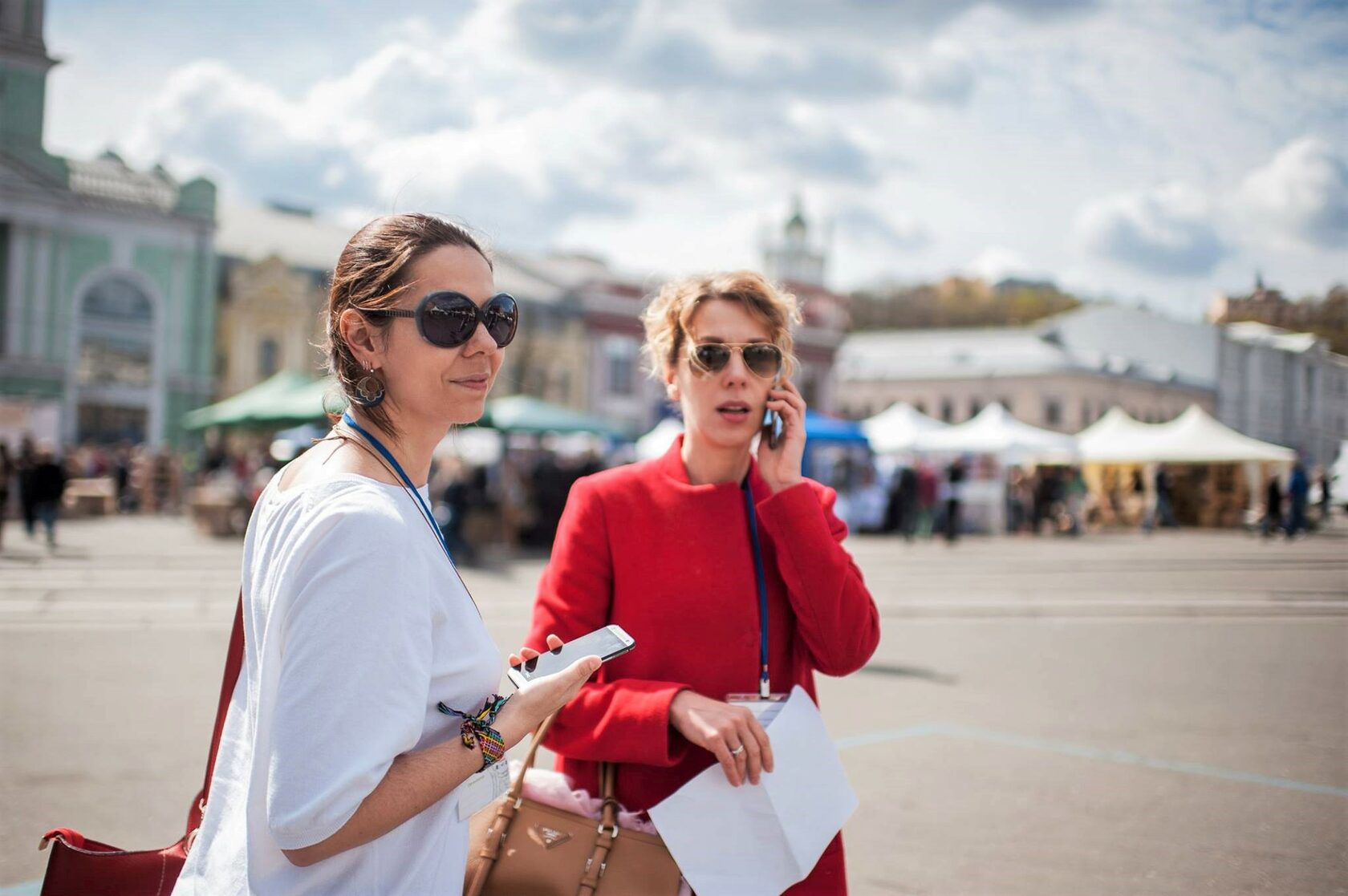 Юлія Савостіна та редакторка delo.ua Катерина Венжик